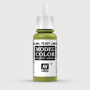 Pintura Aerografia Model Color 70.827 Verde Lima Vallejo 17ml.