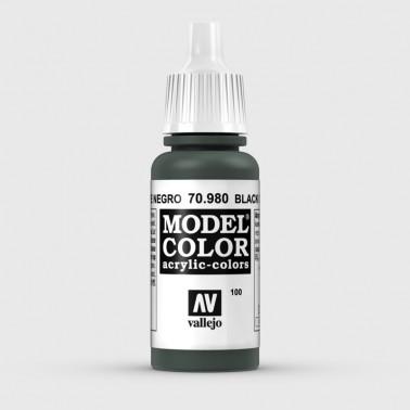 Pintura Aerografia Model Color 70.980 Verde Negro Vallejo 17ml.