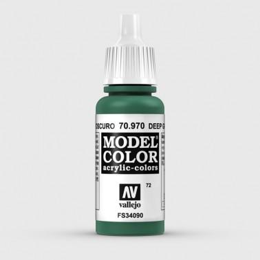 Pintura Aerografia Model Color 70.970 Verde Oscuro Vallejo 17ml.