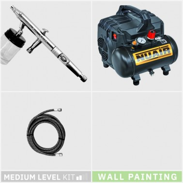 Kit Aerografia 024 Nivel Medio Pintura Mural