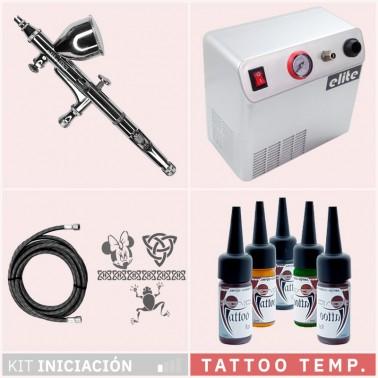 Kit Aerografía Tatuaje Temporal Tattoo Iniciación