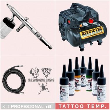 Kit Aerografía Tatuaje Temporal Tattoo Profesional