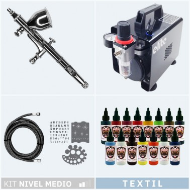Kit Aerografia 027 Nivel Medio Textil