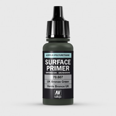 Pintura Aerografia Surface Primer 70.607 Verde Bronce UK Vallejo 17ml