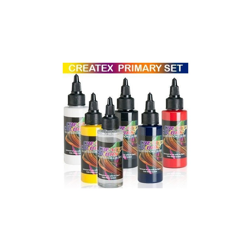 Pintura Aerografia Createx Illustration Primary Kit 60ml