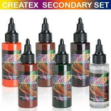 Pintura Aerografia Createx Illustration Secondary Kit