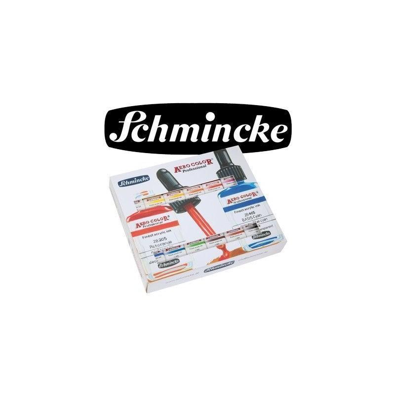 Pintura Aerografia Schmincke AeroColor Professional 12 Colores