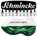 Pintura Aerografia Schmincke AutoColor AeroPearl 922 Verde Esmeralda formulado para aplicar con aer&oacute;grafo, pincel, tira-l&iacute;neas, estilo tinta china<br /><br />El color de la imagen es orientativo.