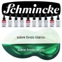 Pintura Aerografia Schmincke AutoColor AeroShine 914 Turquesa formulado para aplicar con aerógrafo, pincel, tira-líneas, estilo tinta china<br /><br />El color de la imagen es orientativo.