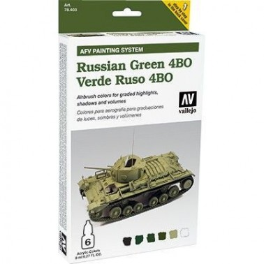 Pintura Aerografia Model Air Verde Ruso 4BO
