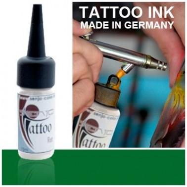 Tinta Tatuaje Aerografia Senjo Tattoo Ink Verde