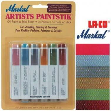 Pintura Markal Paintstik Pro 50ml Set Tradicional 6 Colores