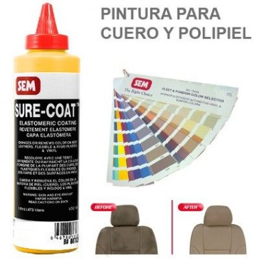 Pintura Cuero Sure Coat Amarillo Indo