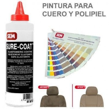 Pintura Cuero Sure Coat Blanco