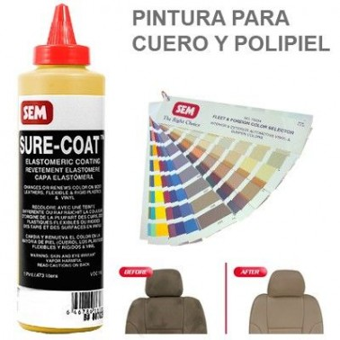 Pintura Cuero Sure Coat Amarillo Oxido
