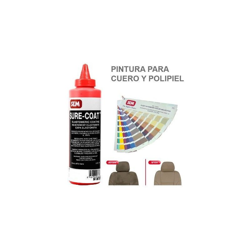 Pintura Cuero Sure Coat Rojo Quindo