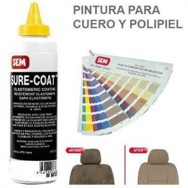 Pintura Cuero Sure Coat Barniz Mate