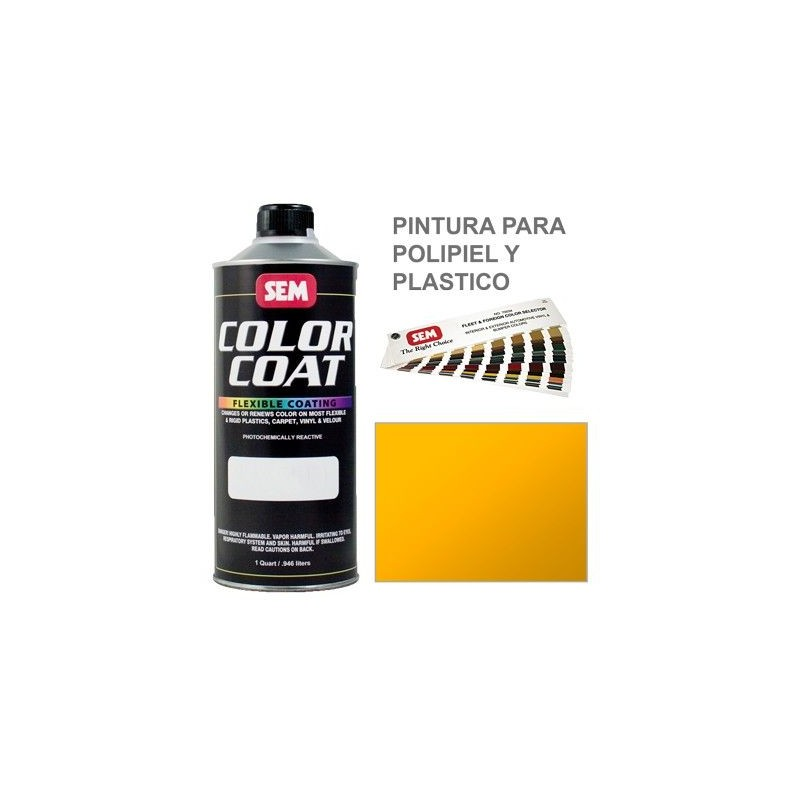 Pintura Polipiel Color Coat Amarillo Solido