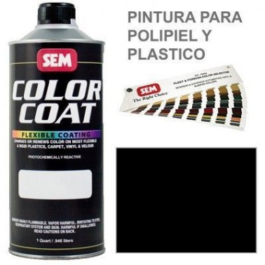 Pintura Polipiel Color Coat Negro Landau