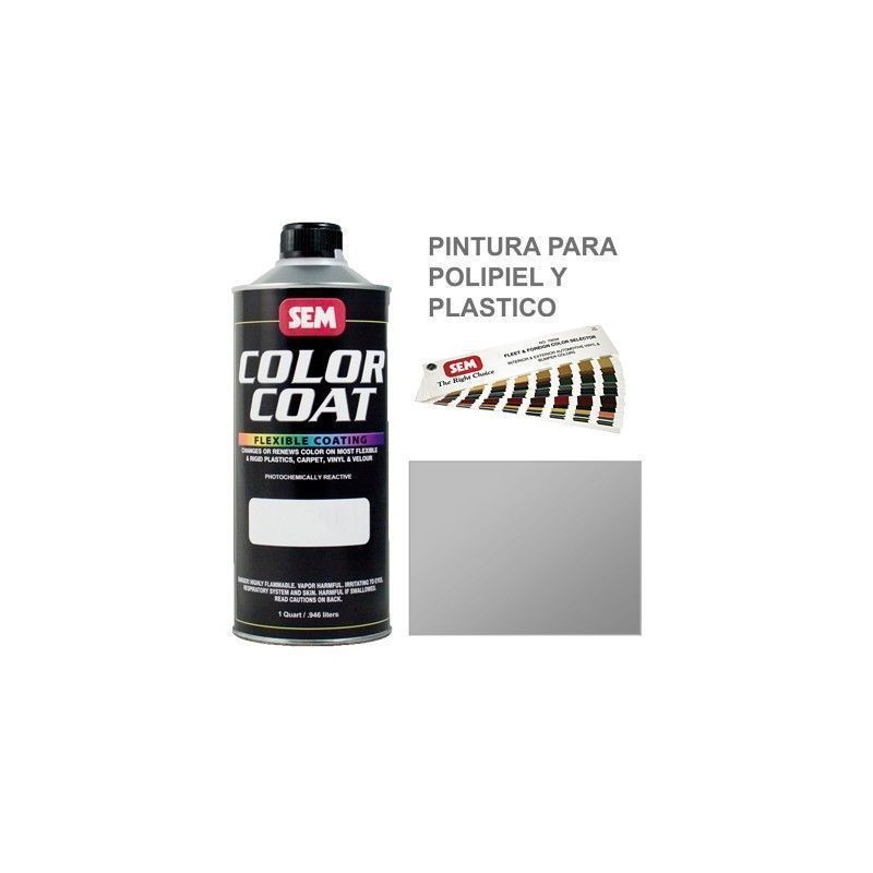Pintura Polipiel Color Coat Plata