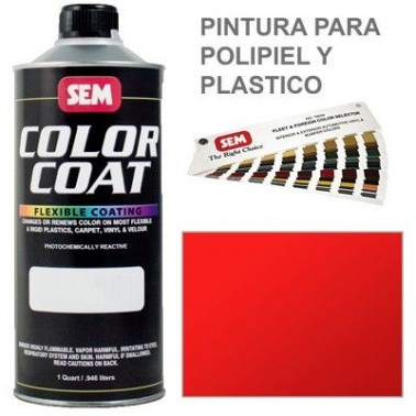 Pintura Polipiel Color Coat Rojo Solido