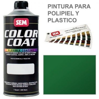 Pintura Polipiel Color Coat Verde Solido
