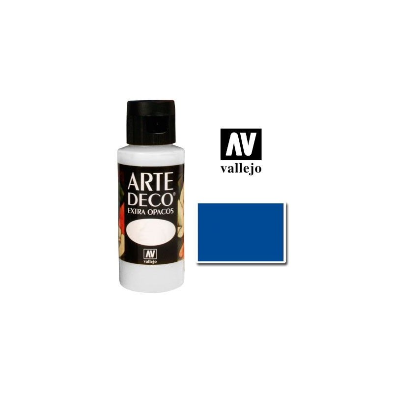 Pintura Vallejo Arte Deco Azul Oscuro