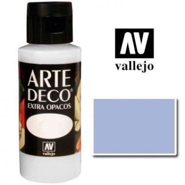 Pintura Vallejo Arte Deco Azul Pueblo