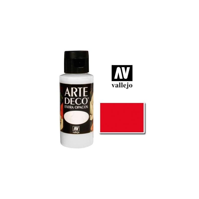 Pintura Vallejo Arte Deco Rojo Fuego