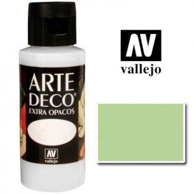 Pintura Vallejo Arte Deco Verde Manzana