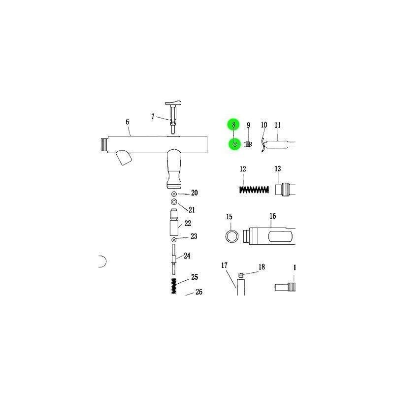 Recambio Aerografo Elite E4182 Junta Sellado