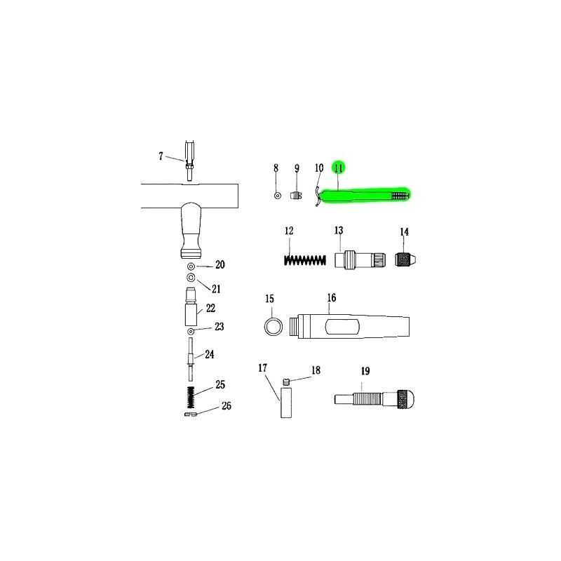 Recambio Aerografo Elite E4182 Guia Aguja