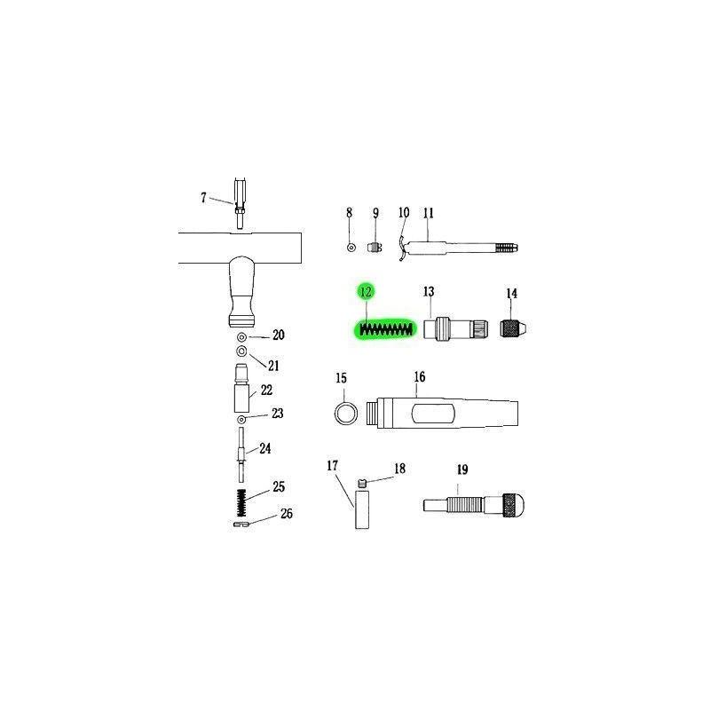 Recambio Aerografo Elite E4182 Muelle
