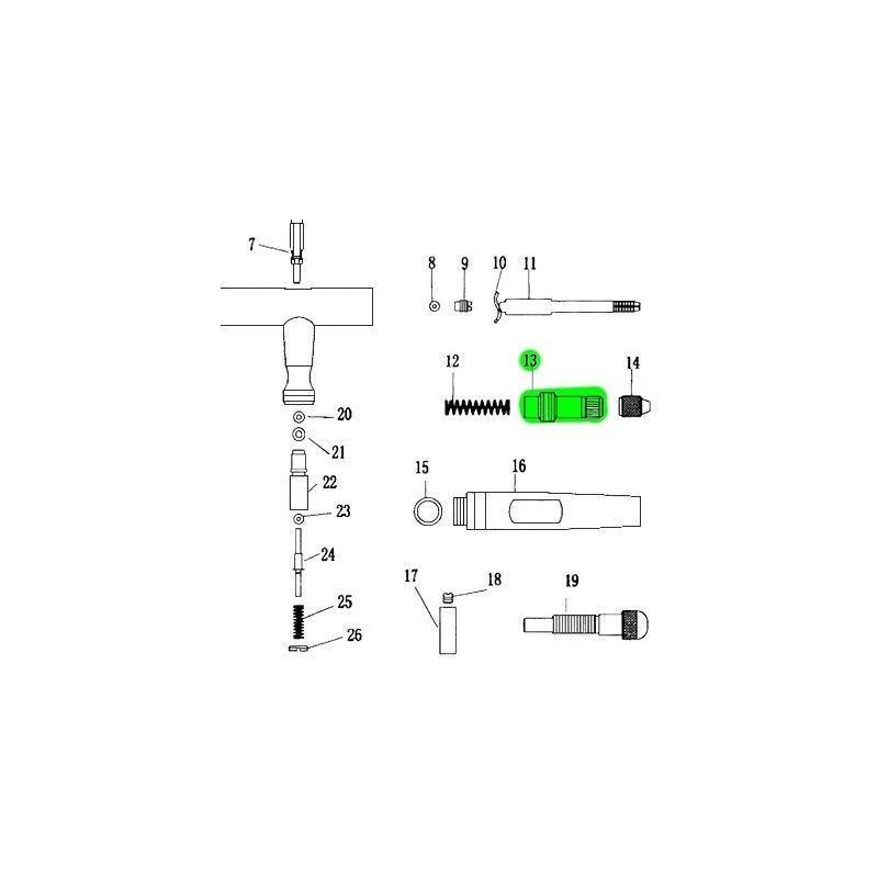Recambio Aerografo Elite E4182 Caja del Muelle