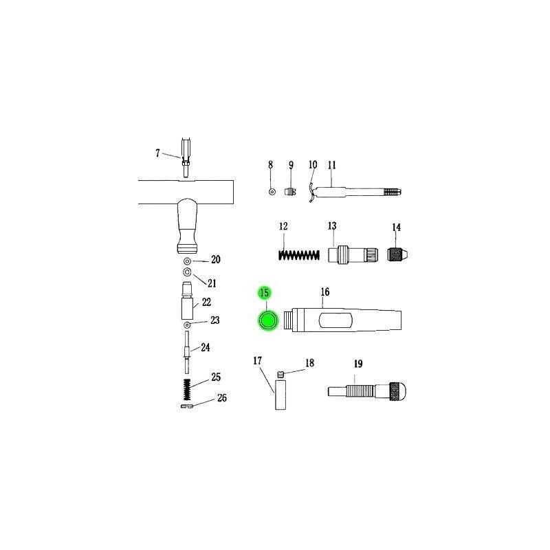 Recambio Aerografo Elite E4182 Junta Cuerpo