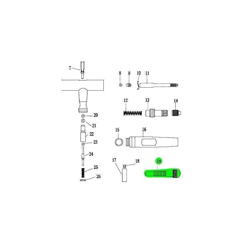 Recambio Aerografo Elite E4182 Refulador Pintura