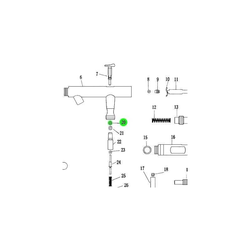Recambio Aerografo Elite E4182 Junta Guia Gatillo