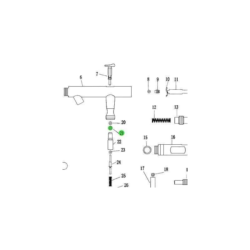 Recambio Aerografo Elite E4182 Junta Valvula Aire
