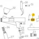 Guía de Aguja de recambio para el Aerógrafo Elite E7116