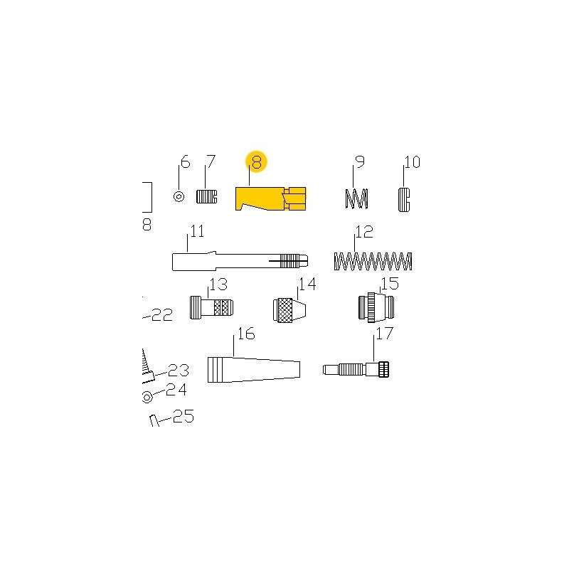 Recambio Aerografo Elite E7116 Valvula Deslizante