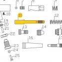 Guía Porta Aguja de recambio para el Aerógrafo Elite E7116