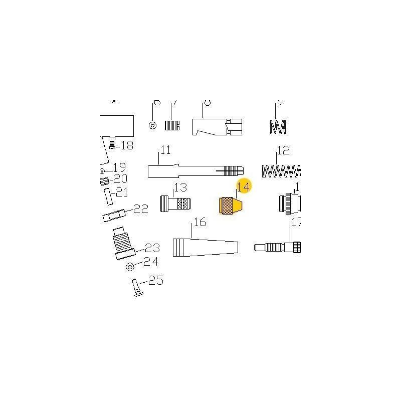Recambio Aerografo Elite E7116 Tuerca Porta Aguja
