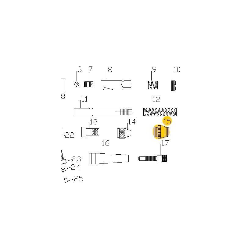 Recambio Aerografo Elite E7116 Caja del Muelle
