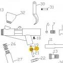 Tuerca fijación válvula de recambio para aerógrafos Elite E7116