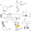 Espiga Válvula de recambio para aerógrafos Elite E7116