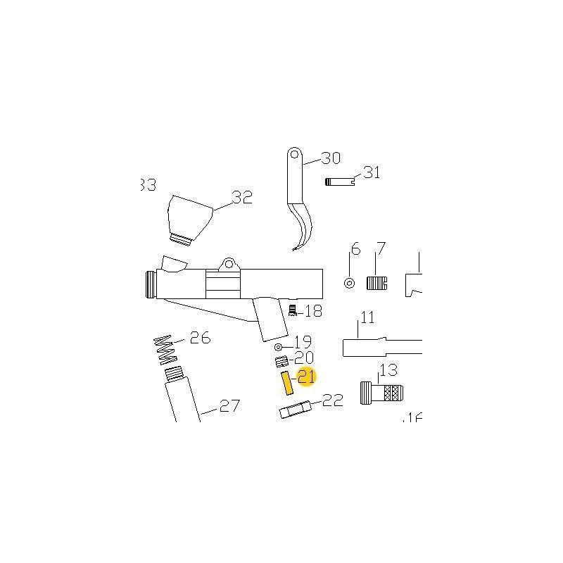 Recambio Aerografo Elite E7116 Espiga Valvula