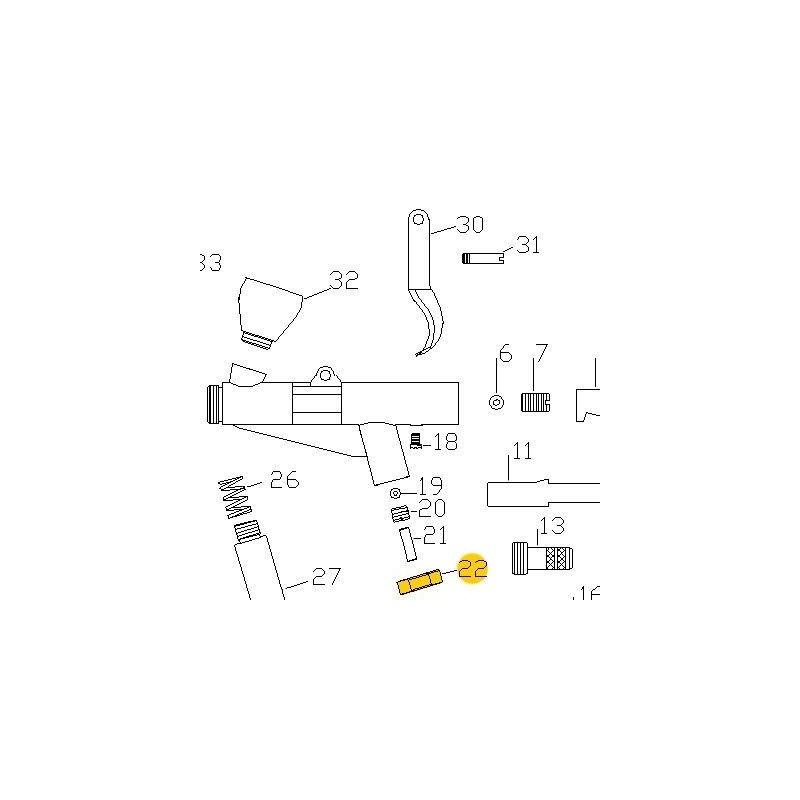 Recambio Aerografo Elite E7116 Tuerca Valvula