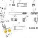 Junta de la Espiga de la válvula de recambio para aerógrafos Elite E7116