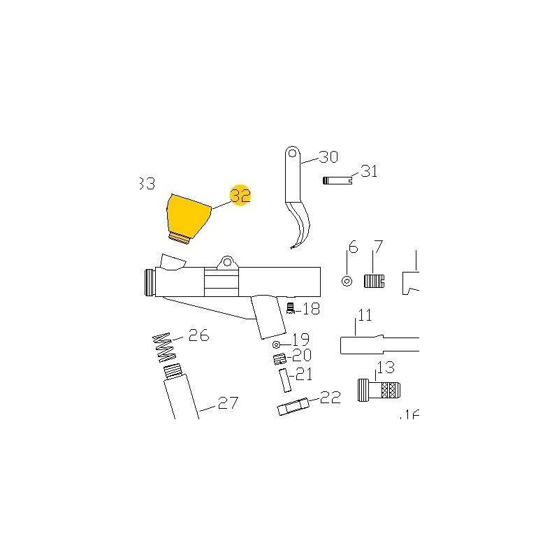 Recambio Aerografo Elite E7116 Deposito 2ml