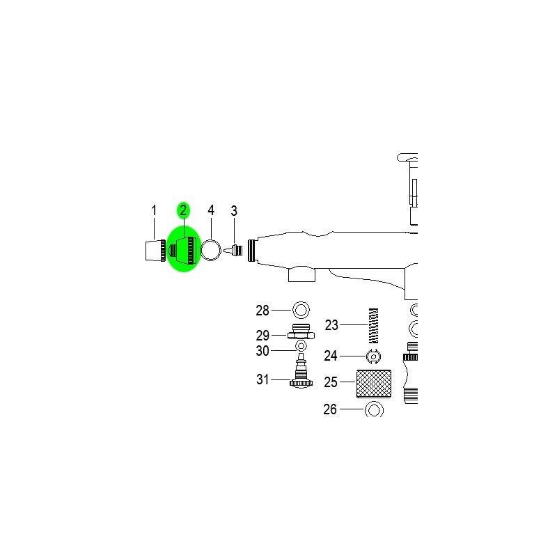 Recambio Aerografo Elite E7201 Tapa de Boquilla
